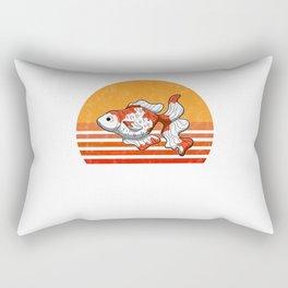Vintage Goldfish Sunset Retro Gift Rectangular Pillow