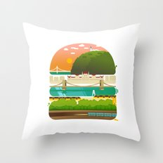 Budapest burger Throw Pillow