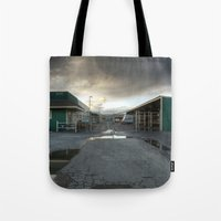 industrial Tote Bags featuring Industrial by Crystal Dodds-Donnelly