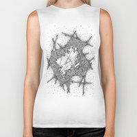 fractal Biker Tanks featuring Fractal by Abstract Al