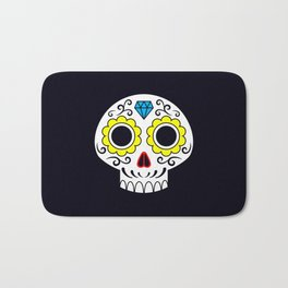 Sugar skull for a cake Bath Mat