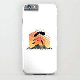 Vintage TEE Sun Sunset Clothing Parachute iPhone Case