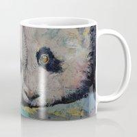 pandas Mugs featuring Baby Pandas by Michael Creese