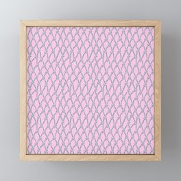Fishing Net Grey on Blush Framed Mini Art Print