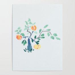 Liam's Chinese Peach Bonsai Poster