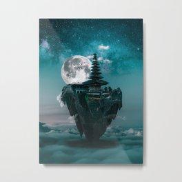 Flying island Metal Print