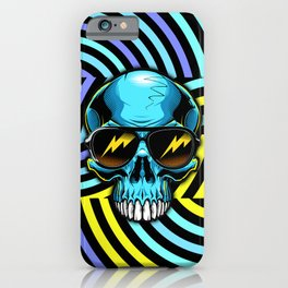 Funky Hypno Skull iPhone Case
