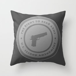 The Right To Bear Arms Throw Pillow
