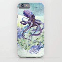 Watercolor Under Sea Collection: Octopus iPhone Case