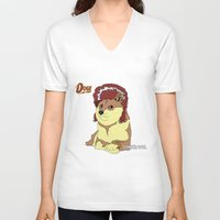 doge V-neck T-shirts featuring Diamond Doge by merimeaux