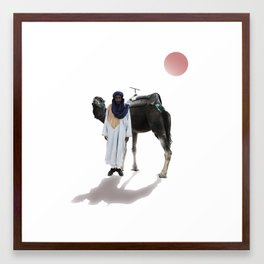 Patient Shadow Framed Art Print