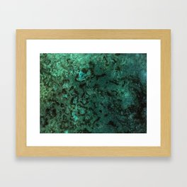 Painting Under UV Spectrum, Unique Blend Of Colors, Original Contemporary Artwork, Copper Framed Art Print