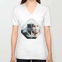 prism V-neck T-shirts featuring Prism by Prism