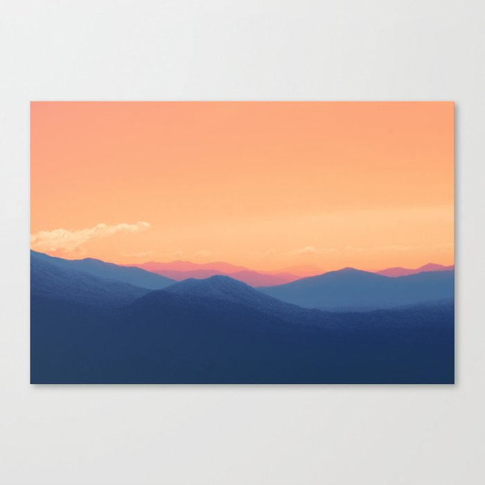 Mountains in Paradise Canvas Print