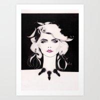 blondie Art Prints featuring Blondie by Christopher Morris