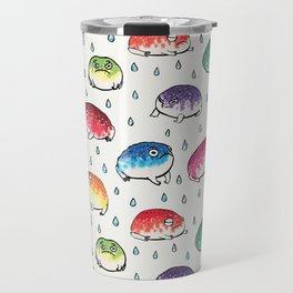 Round Rain Frogs Travel Mug
