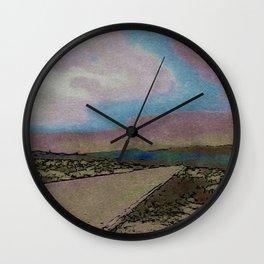 On the Road in Arizona Wall Clock