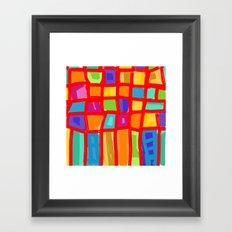 Colorful Grid Framed Art Print