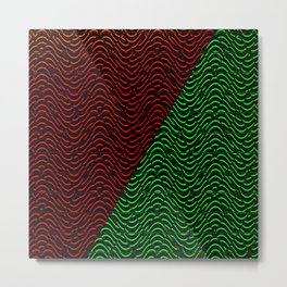 Trippy Triangle Color-Split (Red/Green) Metal Print