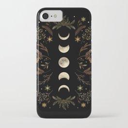 Moonlight Garden - Winter Brown iPhone Case