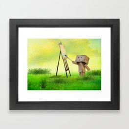 Danbo the artist Framed Art Print