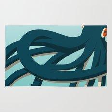Octopus blue Rug