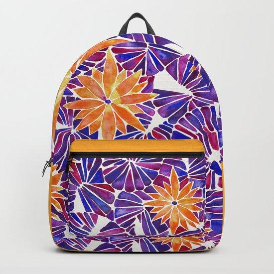 Water Lilies – Purple & Orange Palette Backpack