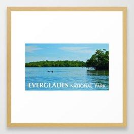Everglades Travel Poster Framed Art Print