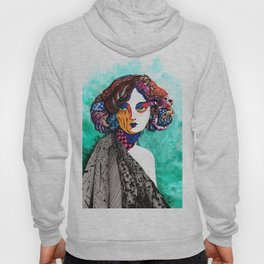 """When the muse come to visit"" Hoody"