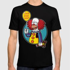 Krustywise the Clown MEDIUM Black Mens Fitted Tee