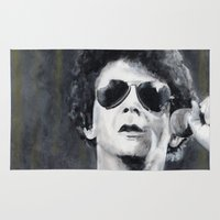 lou reed Area & Throw Rugs featuring Lou Reed by Vikki Sin