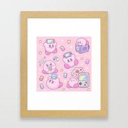 Kirby Gamer Framed Art Print