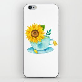 Sunflower Cup of Tea iPhone Skin