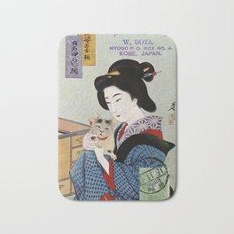 A Geisha and her Cat Bath Mat