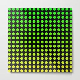 Lil Hottie Green/Yellow Metal Print