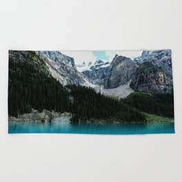 Moraine lake Wander (landscape) Beach Towel