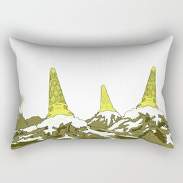 Mountain Top Ice Cream Rectangular Pillow