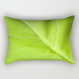 Vibrant Sunflower Leaf Rectangular Pillow