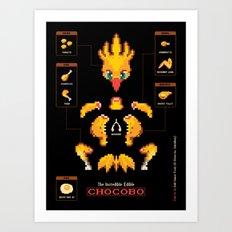 The Incredible, Edible Chocobo Art Print