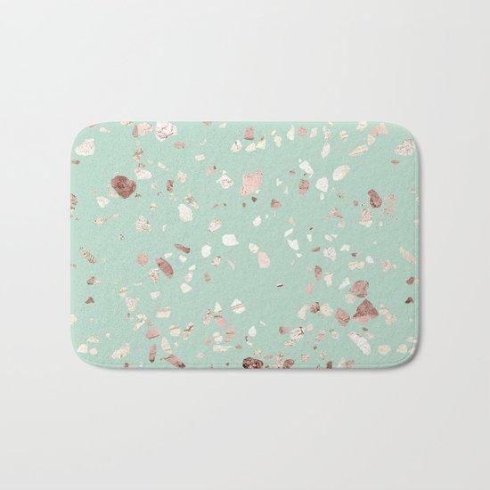Minty Pink Bath Mat