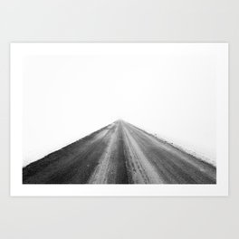 road in the white Art Print