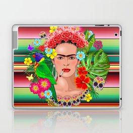 Frida Kahlo Floral Exotic Portrait Laptop & iPad Skin