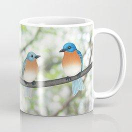 eastern bluebirds and bokeh Coffee Mug