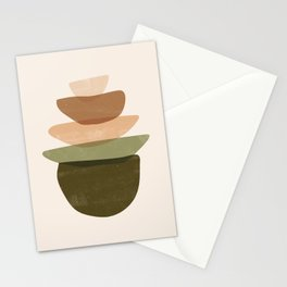 Stacked Shapes Stationery Cards