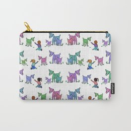 Snacks at the Goat Farm Pattern Carry-All Pouch
