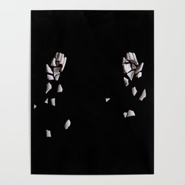 Broken porcelain hands Poster