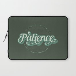 """Patience"" Bible Verse Laptop Sleeve"
