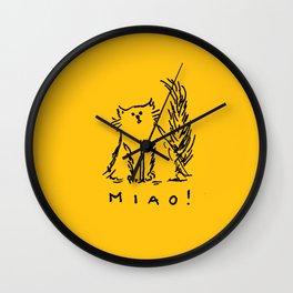 Miao! Wall Clock