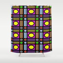 Art Deco Grid Shower Curtain