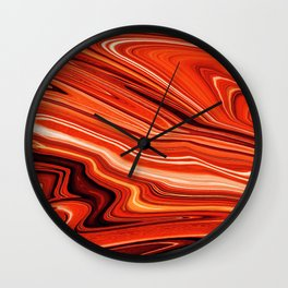 Modern Abstract orange and Yellow Layers Wall Clock